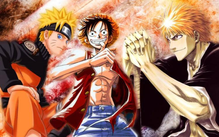 Naruto - One Piece - Bleach